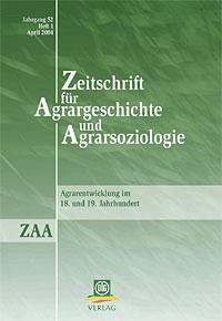 Zeitschrift Für Agrargeschichte